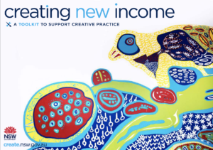Artistic cover page for Creating New Income Toolkit