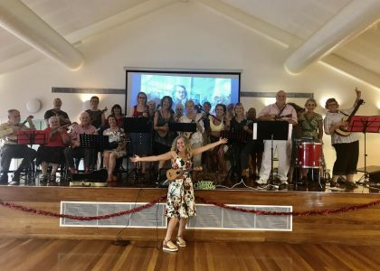 Elton John Ukulele Flash Mob Coffs Harbour Creative Ageing Arts Mid North Coast